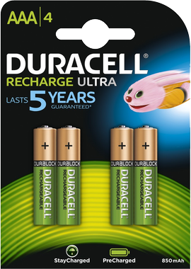 Duracell AAA Rechargeable, 850 mAh