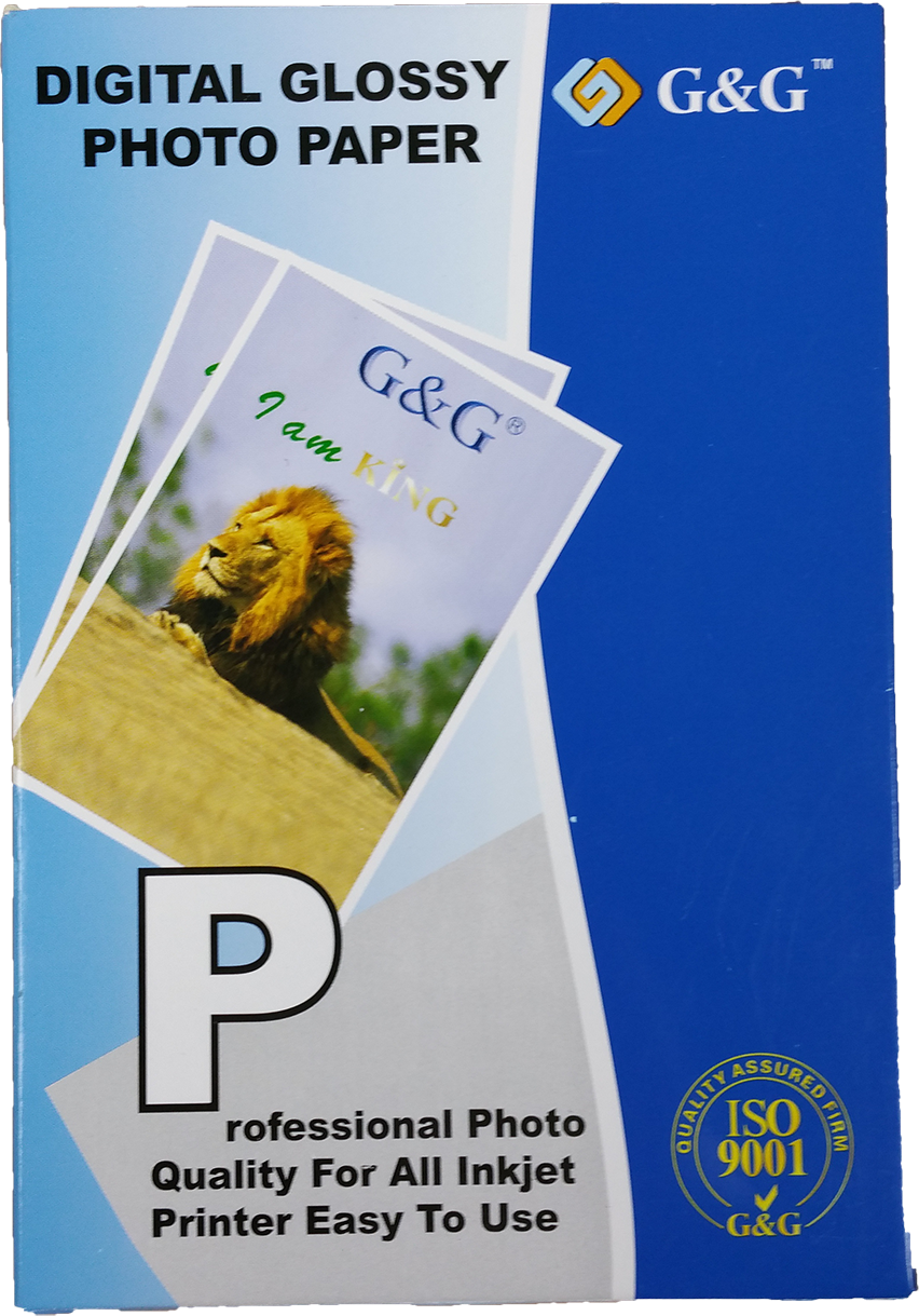 G&G glossy photo papier 10x15 wit