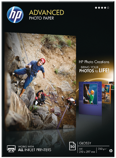 HP fotopapier A4 hoogglans wit