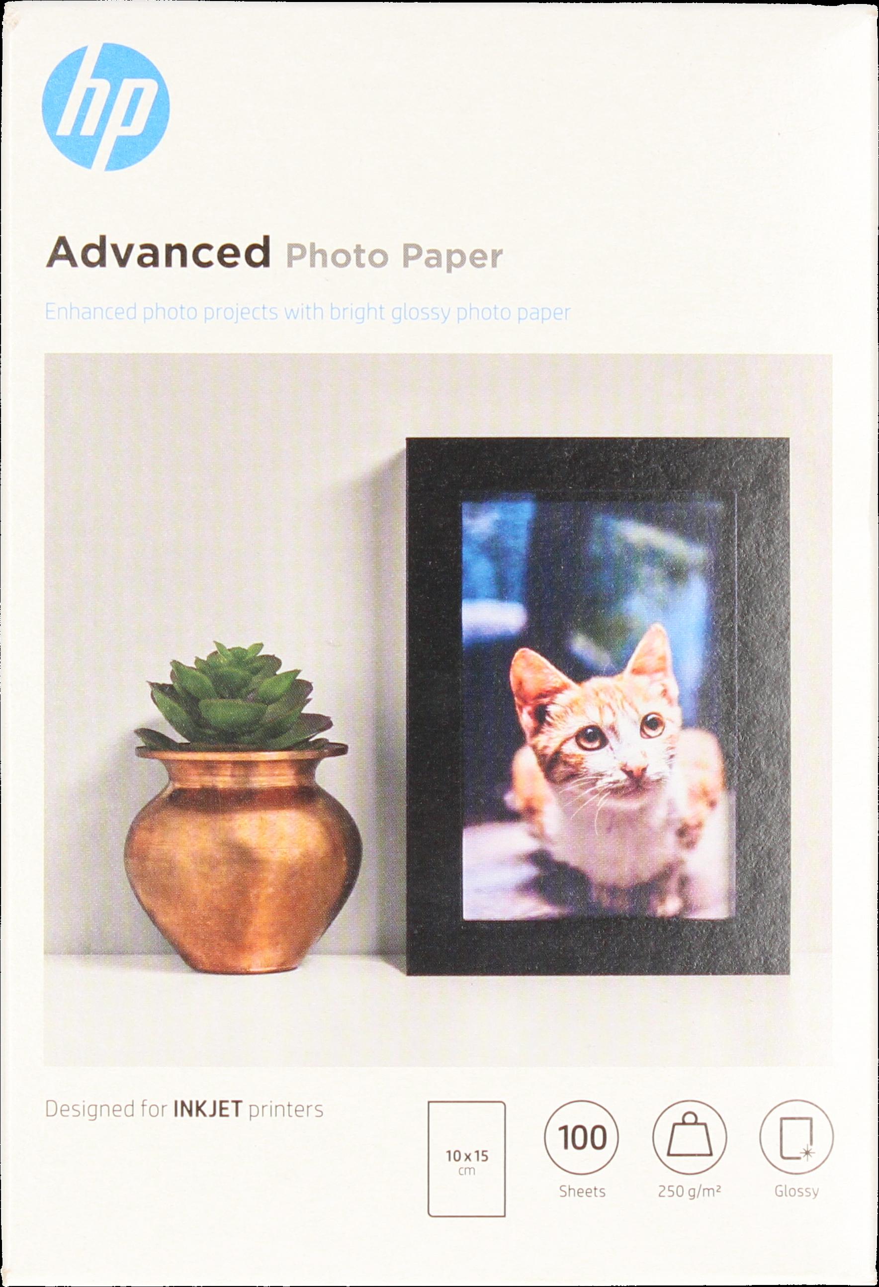 HP  Advanced fotopapier Glans | 10x15 | 250 gr/m² 100 vellen
