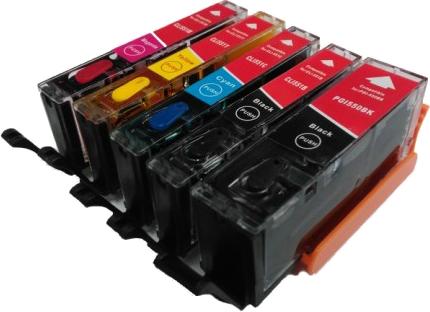 Eetbaar PGI-550 / CLI-551 Multipack zwart en kleur