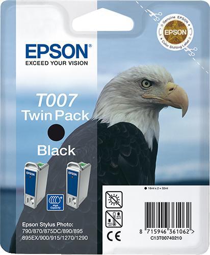 Epson T007 duopack zwart