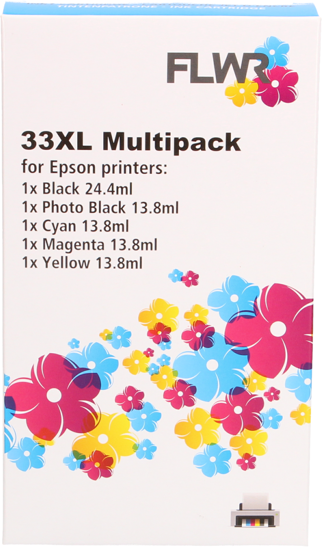 FLWR Epson 33XL multipack zwart en kleur