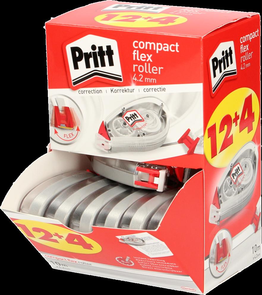 Pritt Compact correctieroller Flex 4,2mm 16 stuks wit