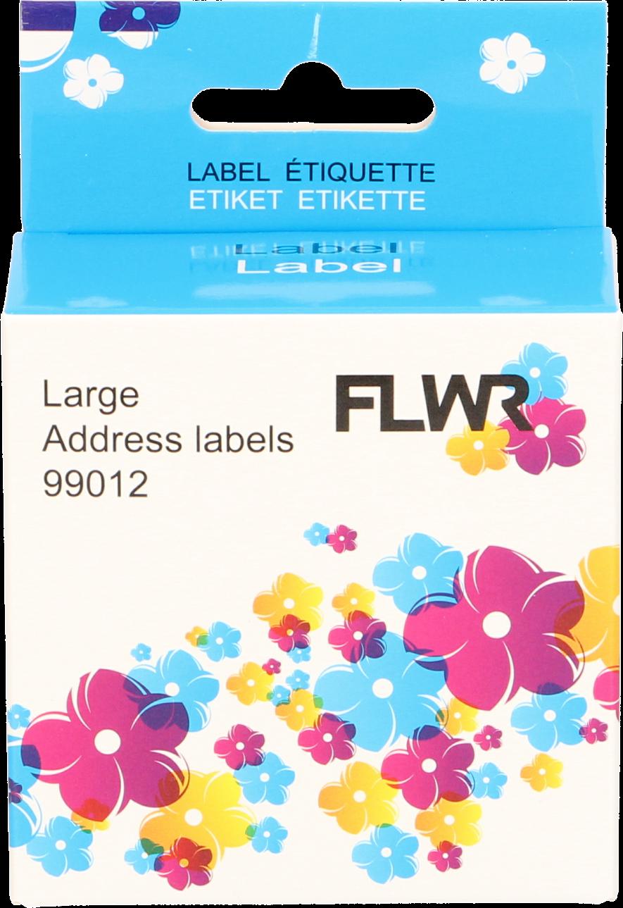 FLWR Dymo 99012 Adreslabel breed wit