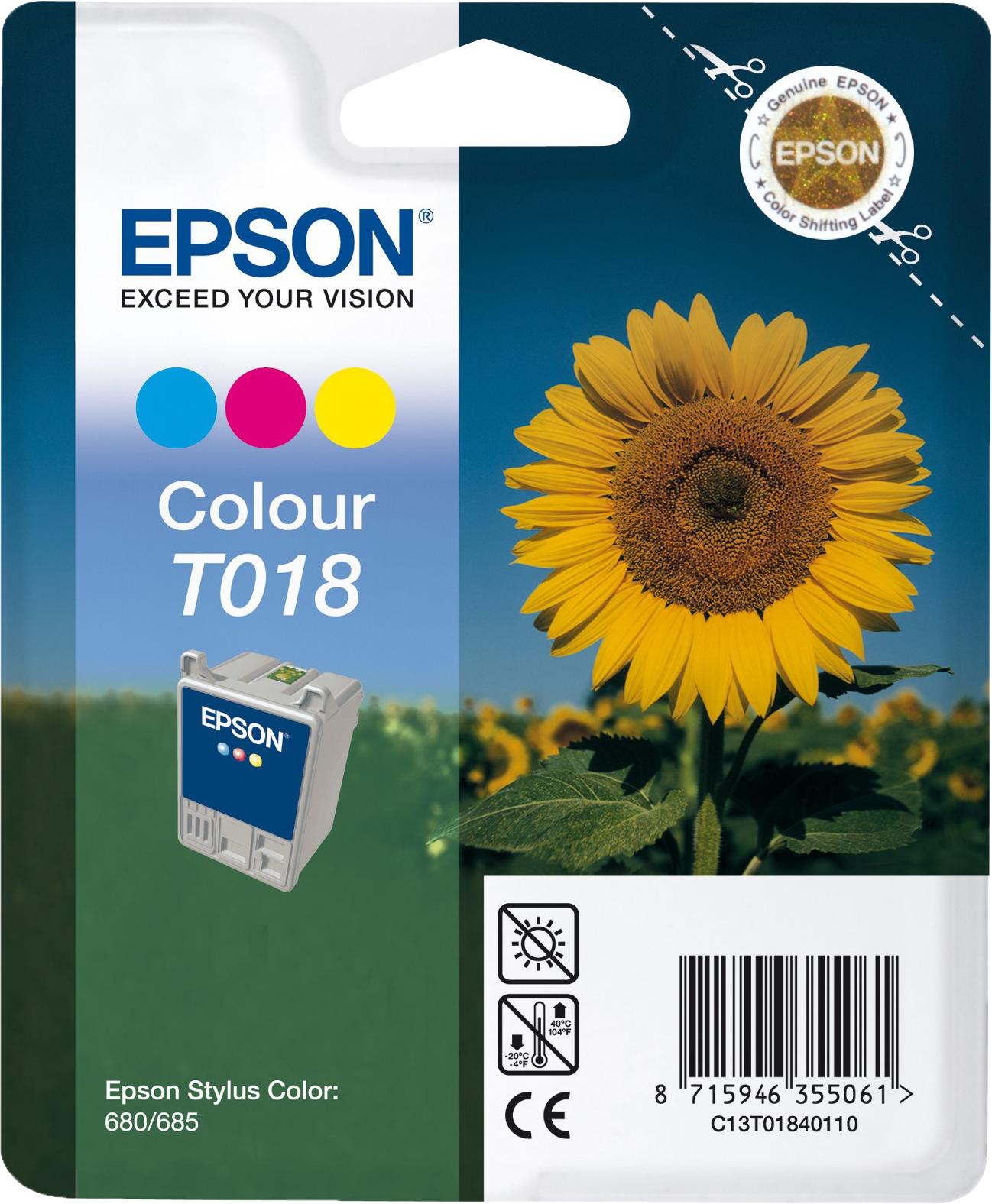 Epson T018 kleur