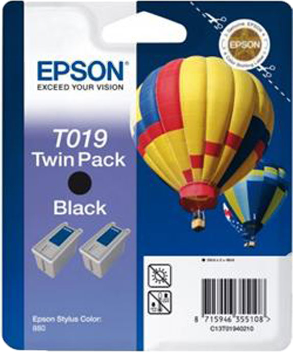 Epson T019 Double pack zwart