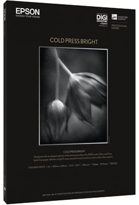 Epson Cold Press Bright Fotopapier A3 wit
