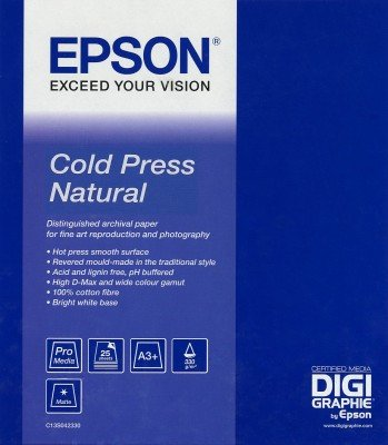 Epson Cold Press Natural Fotopapier A3 wit