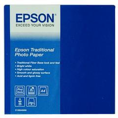 Epson  C13S045050 Traditional Photo Paper  | A4 | 330 gr/m² 25 vellen