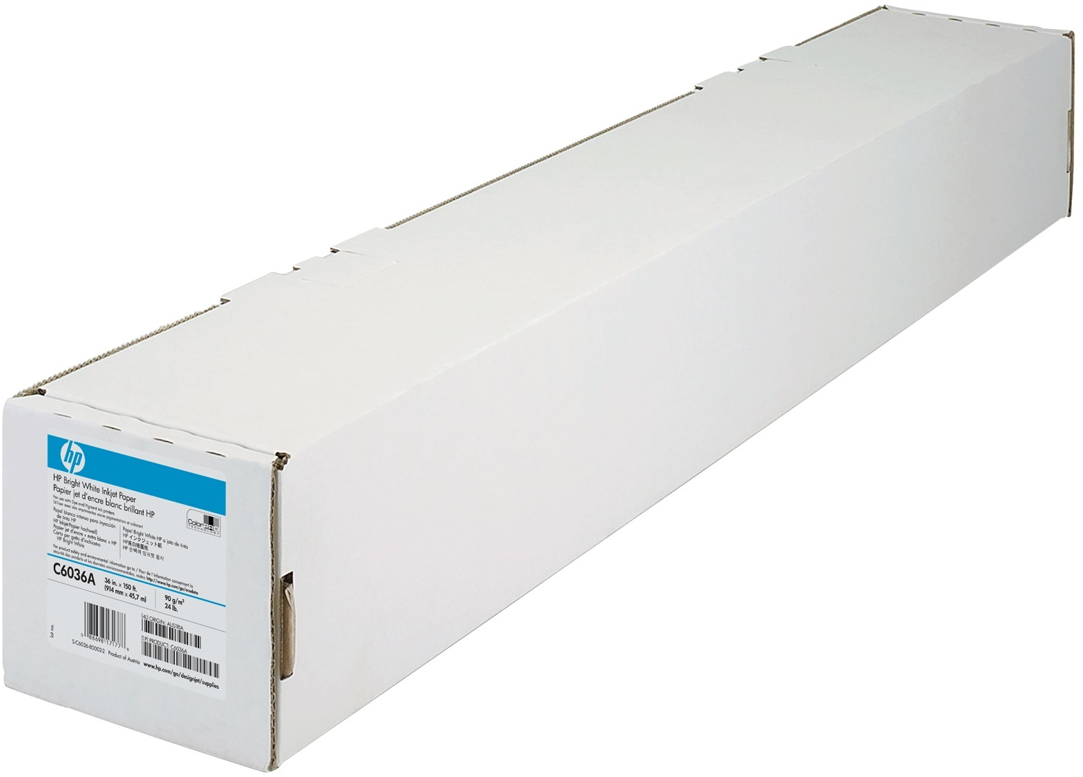 HP Bright White Inkjet Paper rol 36 Inch wit