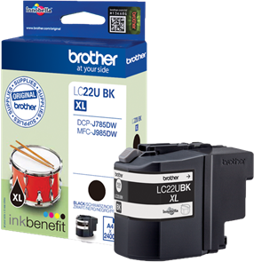Brother LC-22U XL zwart
