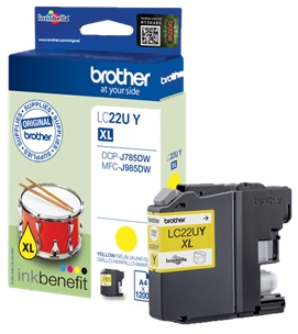 Brother LC-22U XL geel