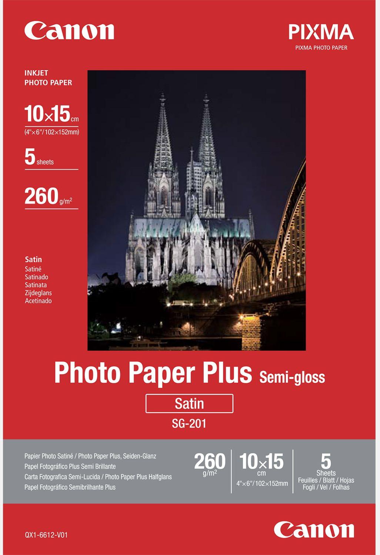 Canon SG-201 Semi gloss 10 x 15 cm wit