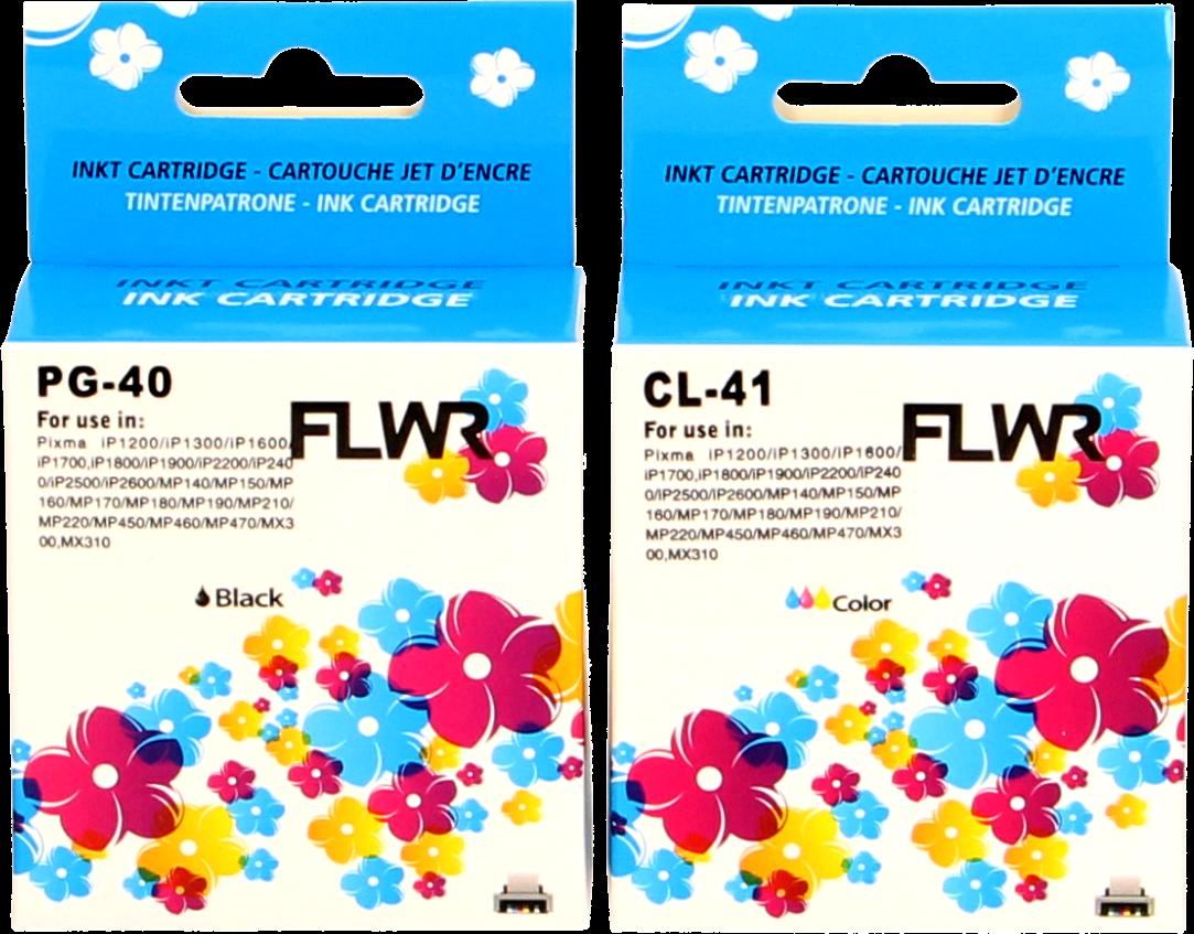 FLWR Canon PG-40 / CL-41 Multipack zwart en kleur