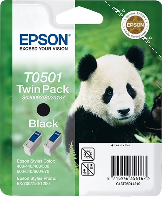 Epson T0501 Double Pack zwart