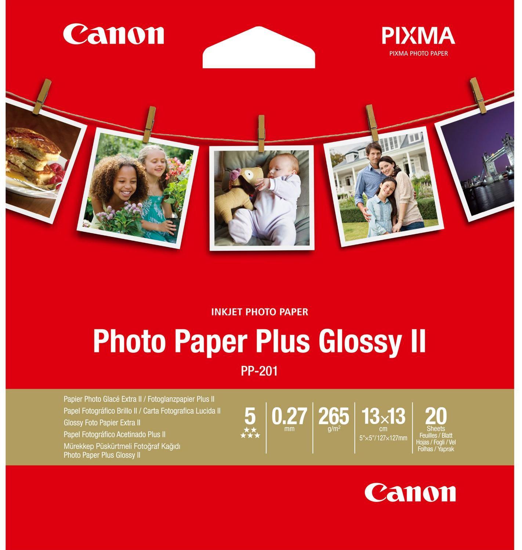 Canon  PP-201 13 x 13 cm Photo Paper Plus Glans | 20 stuks 265 gr/m²