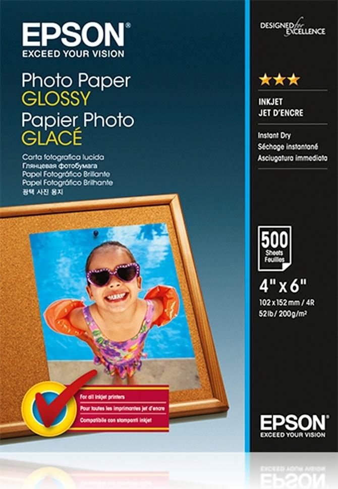 Epson 10x15 fotopapier wit