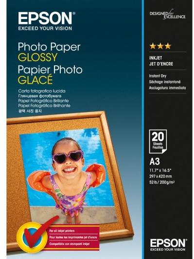 Epson fotopapier A3 20 vellen wit