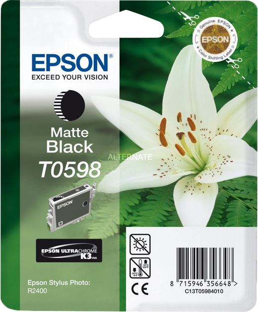 Epson T0598 mat zwart