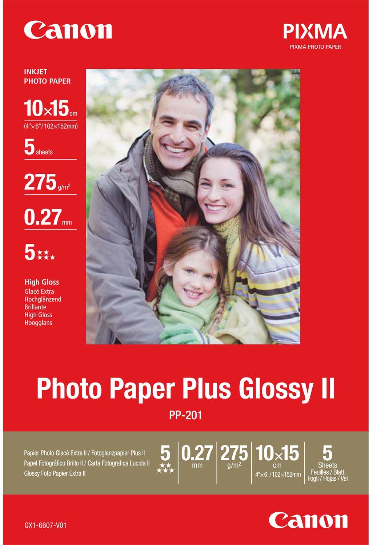 Canon  PP-201 Photo Paper Plus Hoogglans | 10x15 | 275 gr/m² 5 stuks