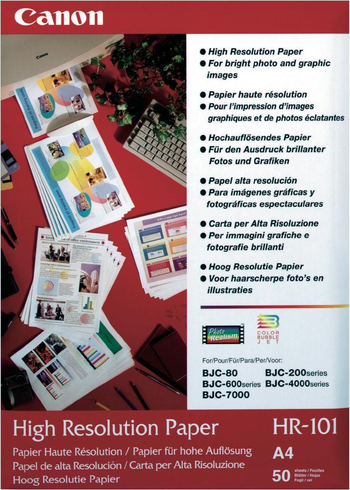 Canon  HR-101 Fotopapier High Resolution | A4 | 110 gr/m² 50 stuks