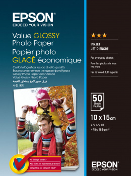 Epson Value Fotopapier 10x15 cm wit