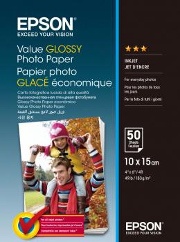 Epson  Value Fotopapier Glans | 10x15 | 183 gr/m² 50 stuks