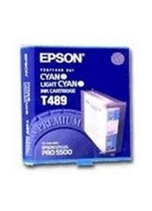 Epson T489 cyaan en licht cyaan