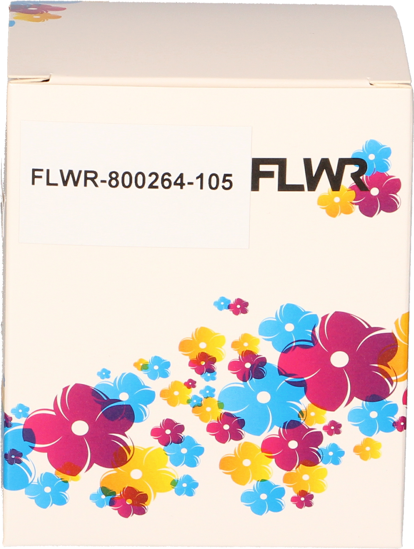 FLWR Zebra verzendetiketten 102x210 wit