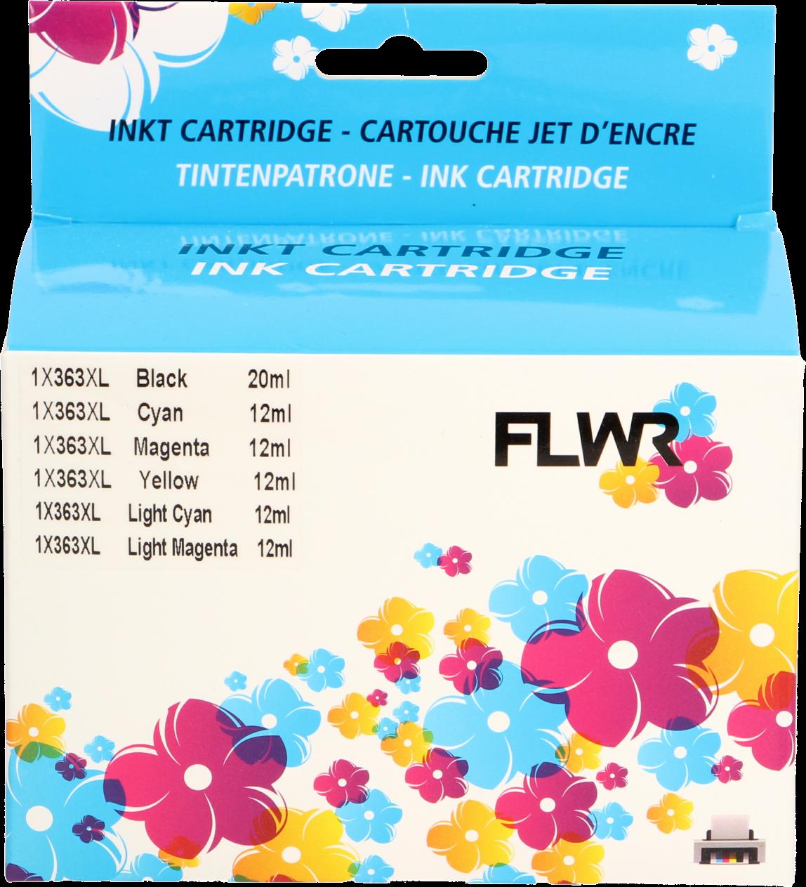 FLWR HP 363 6-pack Multipack zwart en kleur