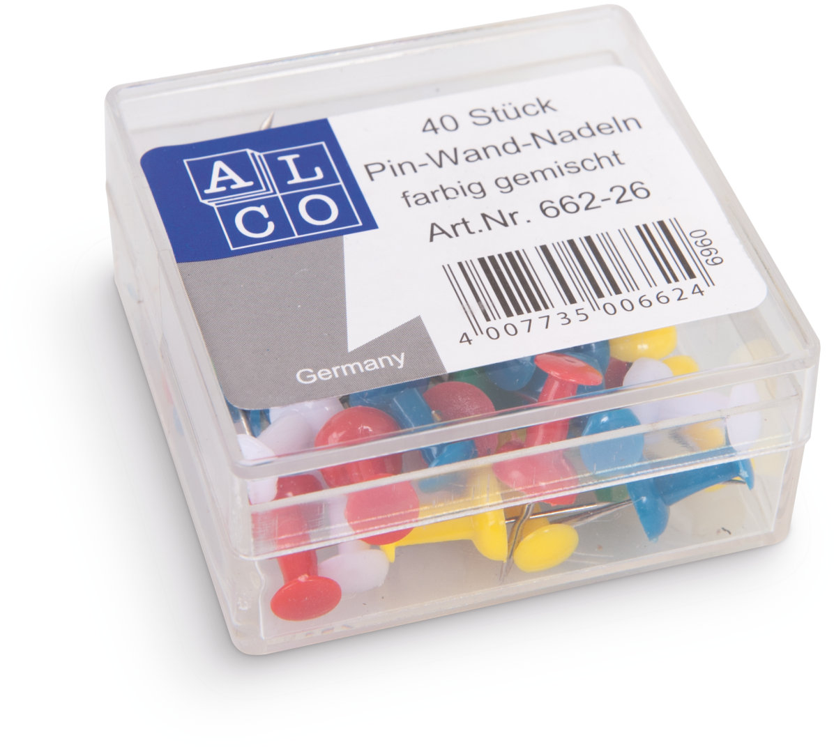 Alco pushpins assorti kleur