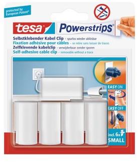 Tesa Powerstrips kabelclips wit