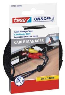 Tesa On&Off kabelbinder klittenband 5m zwart