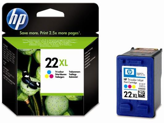 HP 22XL kleur