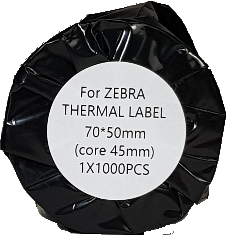 FLWR Zebra thermische etiketten 70 x 50 wit