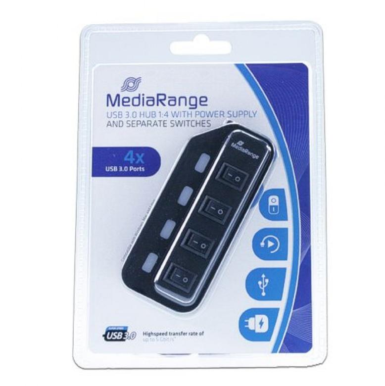 MediaRange MRCS505 USB 3 Hub 4-ports