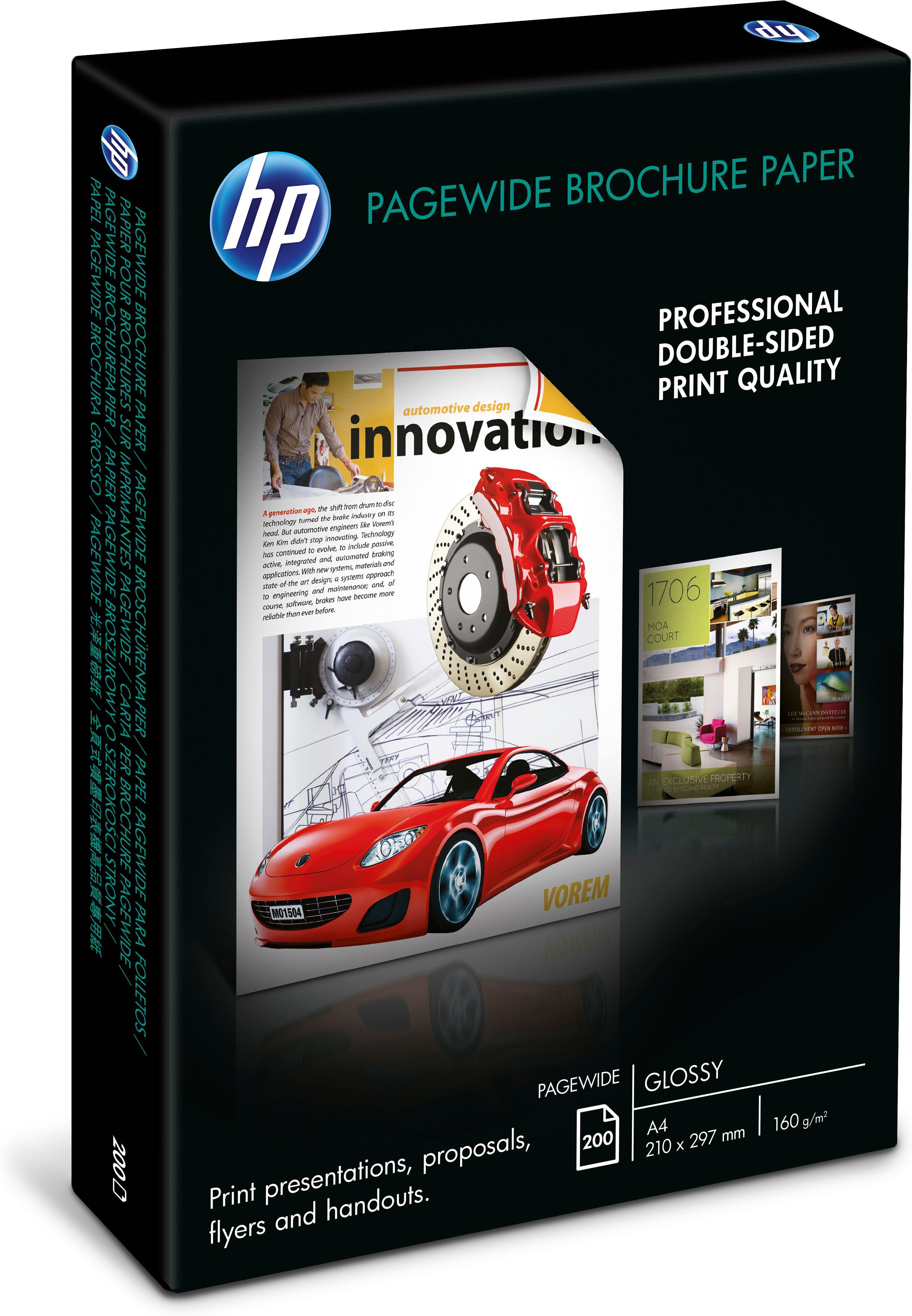 HP PageWide brochurepapier A4 wit