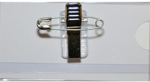 HF2 Naambadge met clip en speld 95x65 24-pack