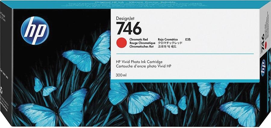 HP 746 Chromatisch rood