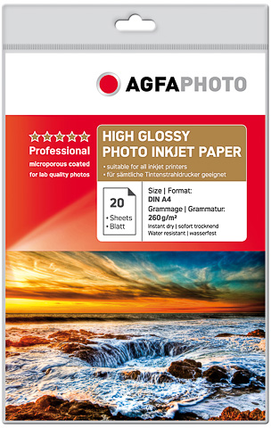 Agfa Fotopapier Hoogglanzend A4 260 grams