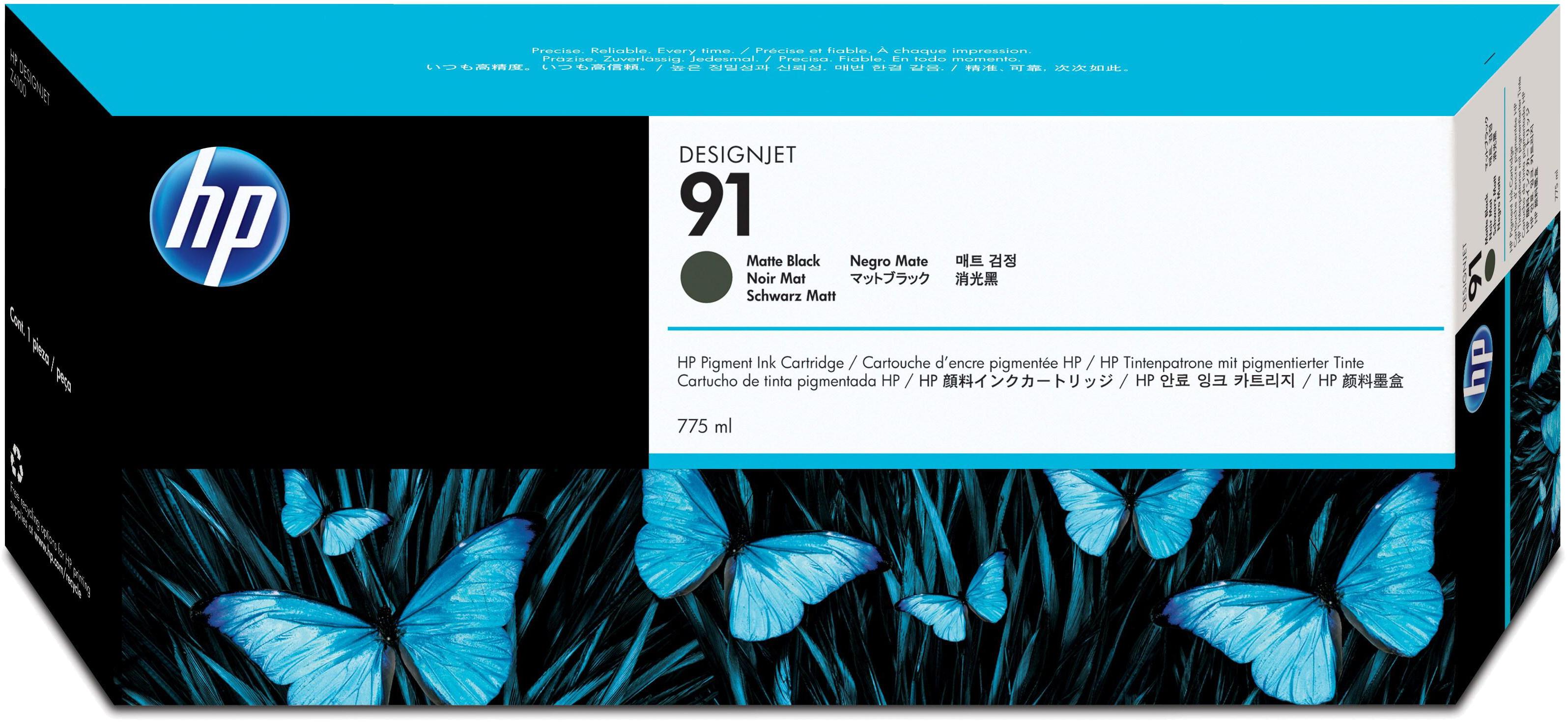 HP 91 mat zwart