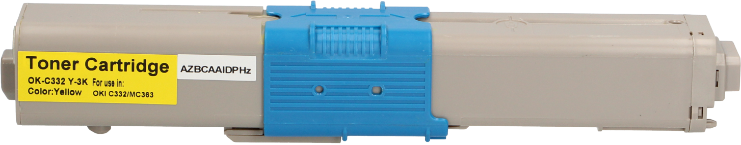 Huismerk Oki C332 / MC363 geel