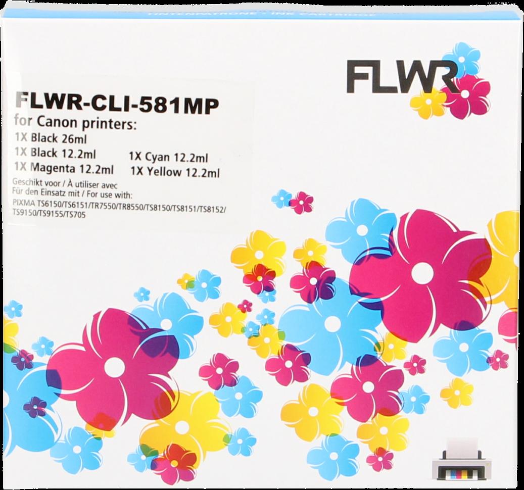 FLWR Canon CLI-581XXL Multipack zwart en kleur