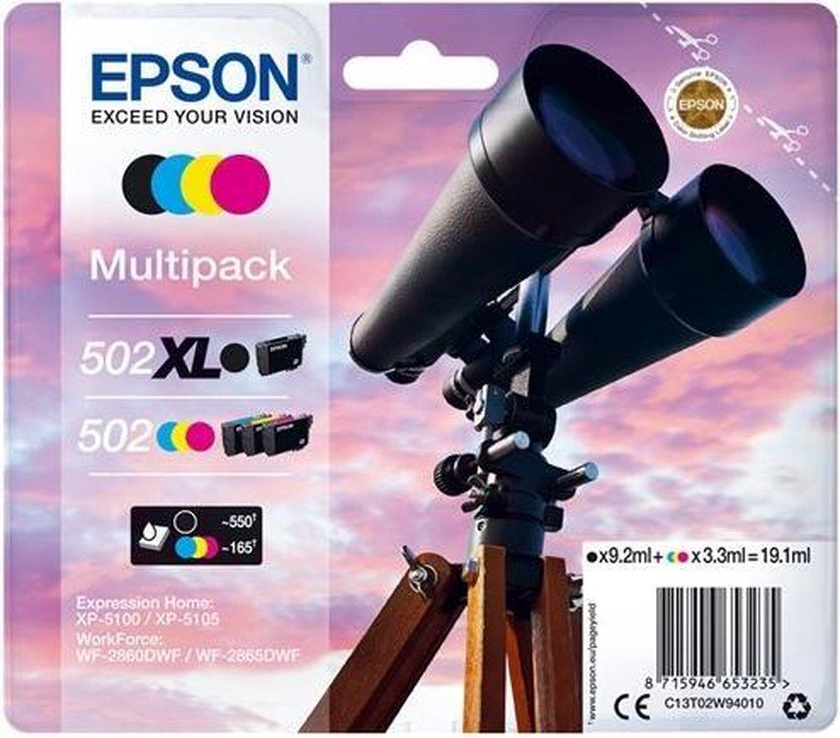 Epson 502XL / 502 zwart en kleur