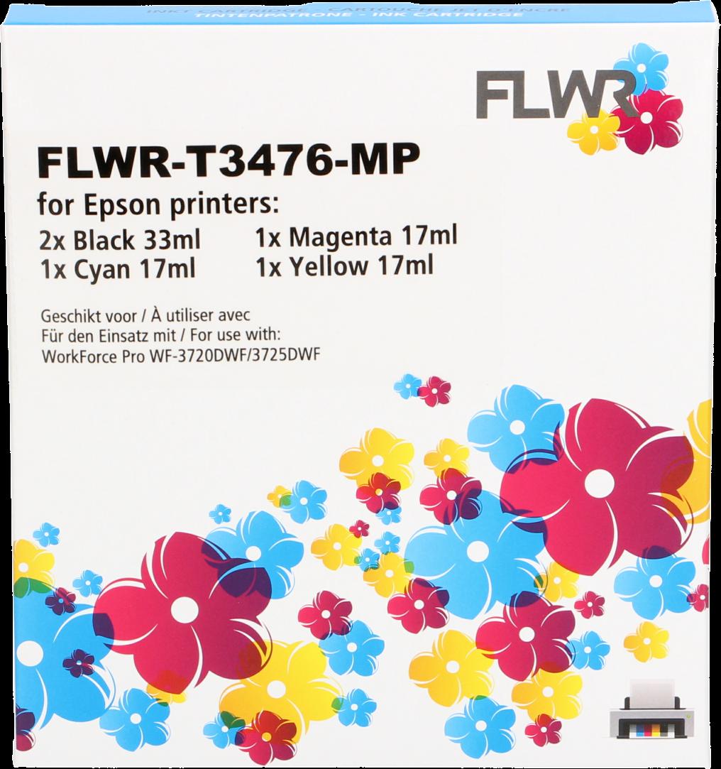 FLWR Epson 34XL Multipack zwart en kleur