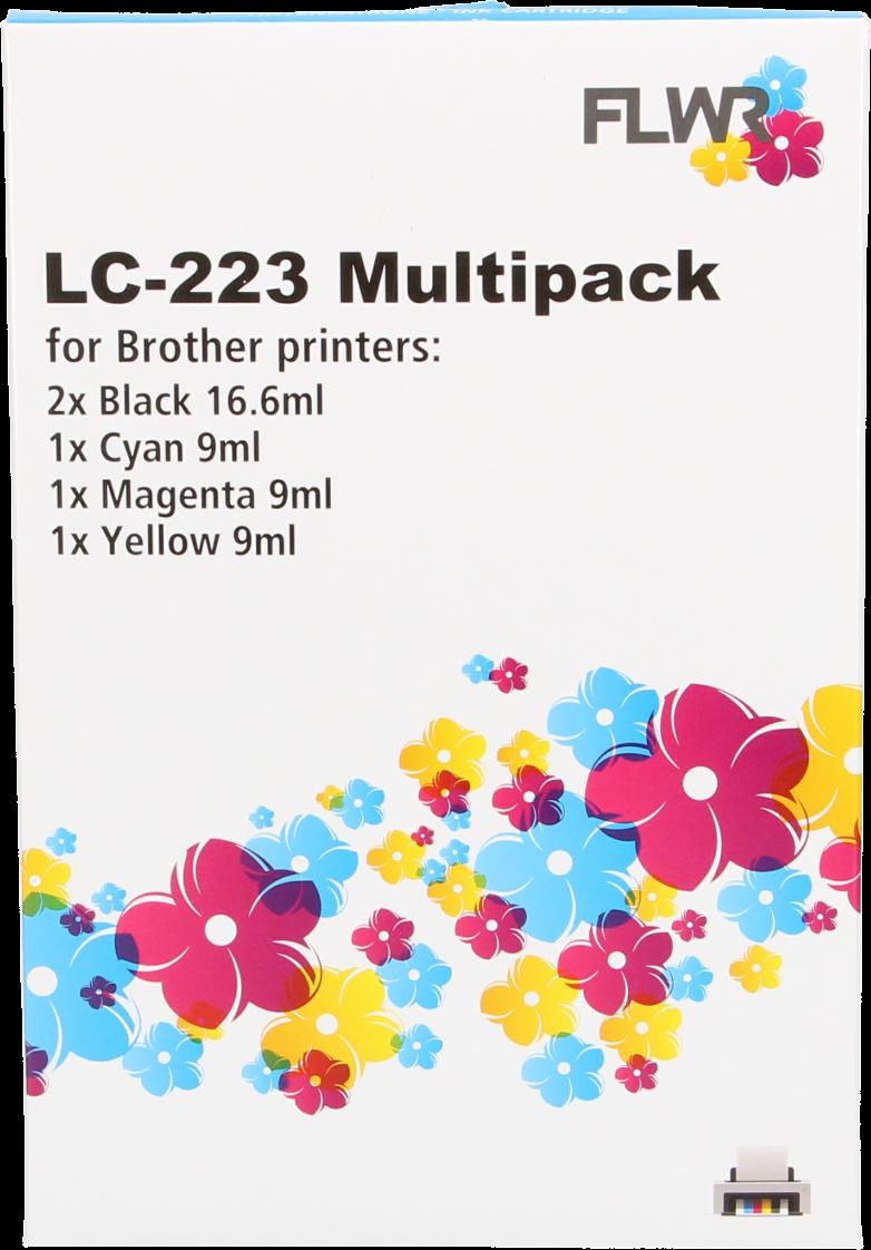 FLWR Brother LC-223 multipack zwart en kleur