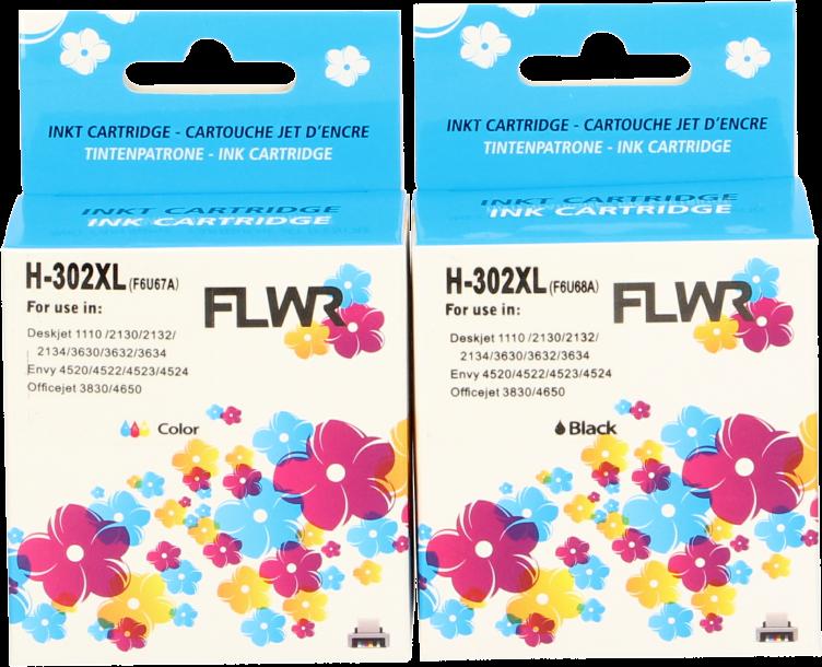 FLWR HP 302XL Multipack zwart en kleur