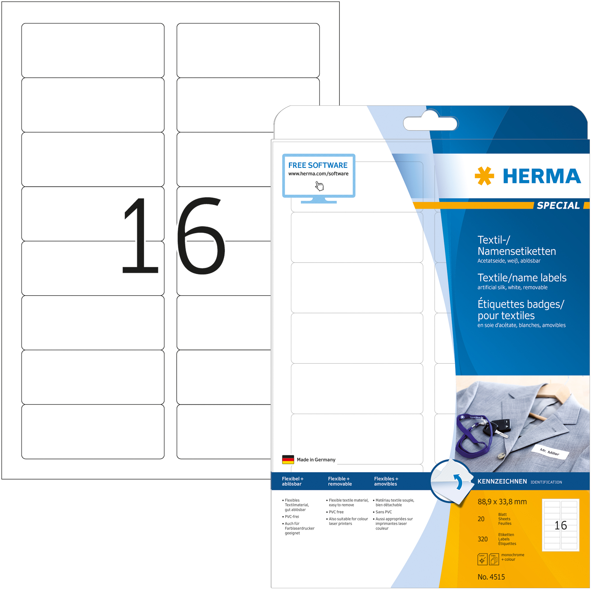 Herma 4515 88.9x33.8MM