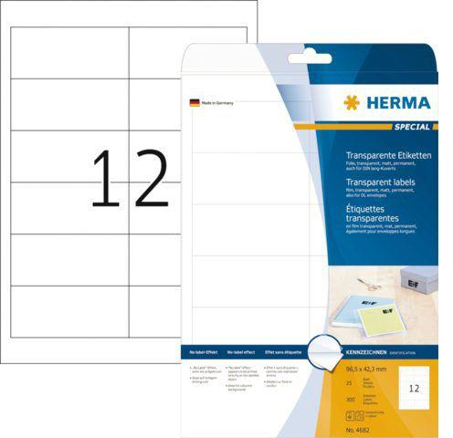Herma 4682 folie-etiketten 97x42,3 MM transparante mat